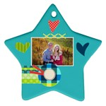 Playful Hearts - Ornament (Star)