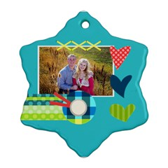 Playful Hearts By Digitalkeepsakes   Snowflake Ornament (two Sides)   2vplypwc6lw1   Www Artscow Com Front