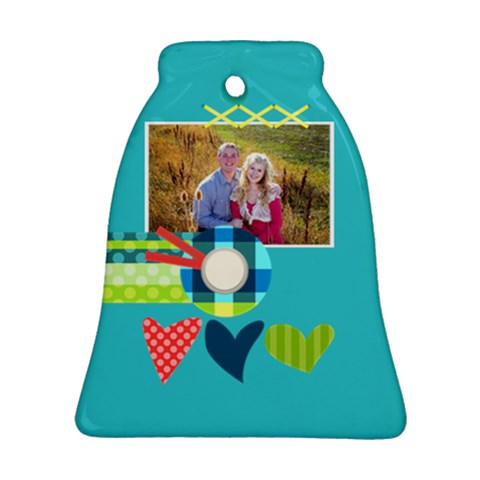 Playful Hearts By Digitalkeepsakes   Ornament (bell)   Db2kjcx3317t   Www Artscow Com Front