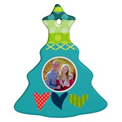 Playful Hearts By Digitalkeepsakes   Christmas Tree Ornament (two Sides)   81nuyfe5gzda   Www Artscow Com Front