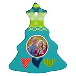 Playful Hearts - Christmas Tree Ornament (Two Sides)