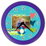 Playful Hearts - Color Wall Clock