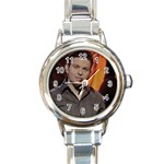ryan watch 2 - Round Italian Charm Watch