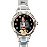 ryan watch 3 - Round Italian Charm Watch