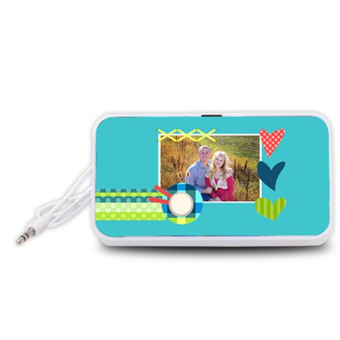 Playful Hearts By Digitalkeepsakes   Portable Speaker (white)   M68m604zmypp   Www Artscow Com Front