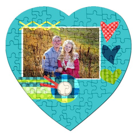 Playful Hearts By Digitalkeepsakes   Jigsaw Puzzle (heart)   Yp14afrt6n2b   Www Artscow Com Front