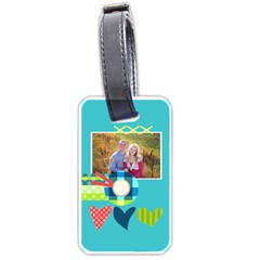 Playful Hearts By Digitalkeepsakes   Luggage Tag (two Sides)   Nvh3ri9egvv4   Www Artscow Com Back