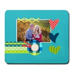 Playful Hearts - Large Mousepad