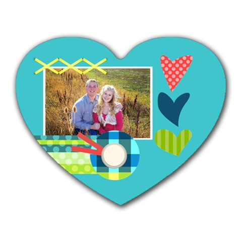Playful Hearts By Digitalkeepsakes   Heart Mousepad   Xv0ej3ypsohr   Www Artscow Com Front