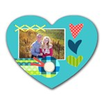 Playful Hearts - Heart Mousepad