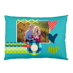 Playful Hearts By Digitalkeepsakes   Pillow Case (two Sides)   Dflrwq6pybru   Www Artscow Com Back