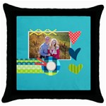 Playful Hearts - Throw Pillow Case (Black)