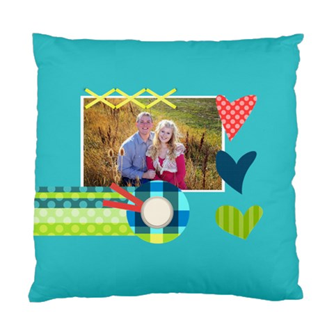 Playful Hearts By Digitalkeepsakes   Standard Cushion Case (one Side)   Xrz8fps740jq   Www Artscow Com Front
