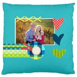 Playful Hearts - Large Cushion Case (One Side)