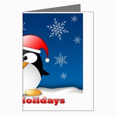 Happy Holidays Greeting Penguin Greeting Card by DesignMonaco