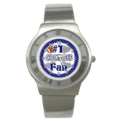 Cowboys Fan Stainless Steel Watch by lextrading