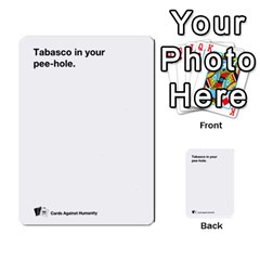 Cah Custom Deck Template 1 By Steven   Multi Purpose Cards (rectangle)   Q8jlzb3bd6re   Www Artscow Com Front 17
