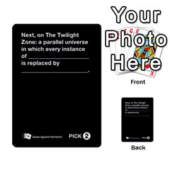 Cah Custom Deck Template 1 By Steven   Multi Purpose Cards (rectangle)   Q8jlzb3bd6re   Www Artscow Com Front 48