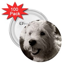 Westie.puppy 100 Pack Regular Button (Round) by Koalasandkangasplus
