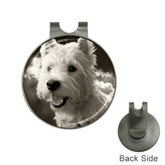 Westie Puppy Hat Clip With Golf Ball Marker by Koalasandkangasplus
