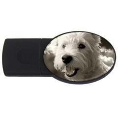 Westie Puppy 4gb Usb Flash Drive (oval) by Koalasandkangasplus