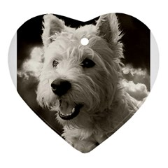 Westie Puppy Heart Ornament (two Sides) by Koalasandkangasplus