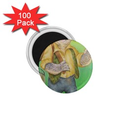 Green Gold Swaggie 100 Pack Small Magnet (round)
