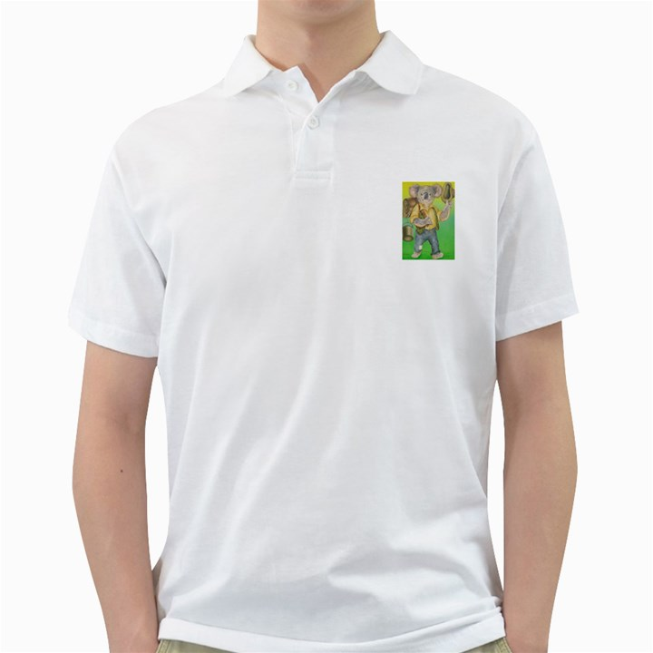 Green Gold Swaggie White Mens  Polo Shirt