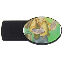Green Gold Swaggie 1Gb USB Flash Drive (Oval)