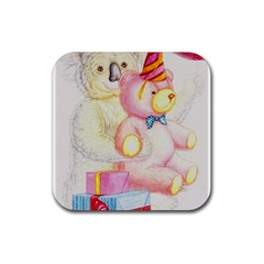 Koala And Bear  Rubber Drinks Coaster (Square)