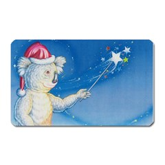 Santa Wand Koala Large Sticker Magnet (rectangle) by Koalasandkangasplus