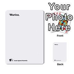 Cah Custom Deck Template 2 By Steven   Multi Purpose Cards (rectangle)   Ntbtzod69did   Www Artscow Com Front 17