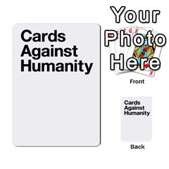 Cah Custom Deck Template 2 By Steven   Multi Purpose Cards (rectangle)   Ntbtzod69did   Www Artscow Com Back 30