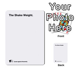 Cah Custom Deck Template 2 By Steven   Multi Purpose Cards (rectangle)   Ntbtzod69did   Www Artscow Com Front 4