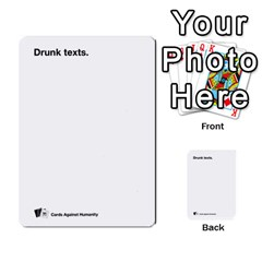 Cah Custom Deck Template 2 By Steven   Multi Purpose Cards (rectangle)   Ntbtzod69did   Www Artscow Com Front 31