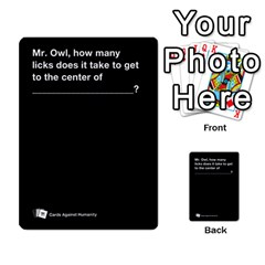 Cah Custom Deck Template 2 By Steven   Multi Purpose Cards (rectangle)   Ntbtzod69did   Www Artscow Com Front 50