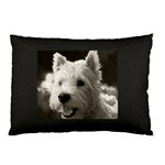 westie.puppy.pillow.case.black - Pillow Case