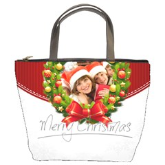 Merry Christmas By Mac Book   Bucket Bag   Mhdsnvp5t17f   Www Artscow Com Front