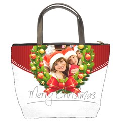 Merry Christmas By Mac Book   Bucket Bag   Mhdsnvp5t17f   Www Artscow Com Back