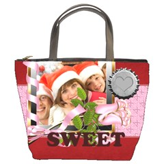 Merry Christmas By Mac Book   Bucket Bag   Vq4bznvsopa2   Www Artscow Com Front