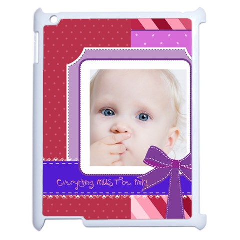 Kids By Mac Book   Apple Ipad 2 Case (white)   Fp2oxk4q858x   Www Artscow Com Front