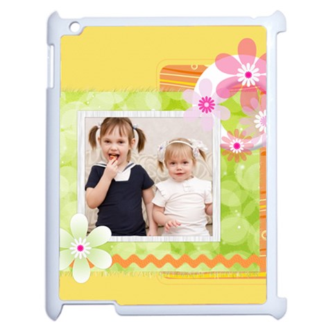 Flower Of Kids By Joely   Apple Ipad 2 Case (white)   Joqn9t1n3y7k   Www Artscow Com Front