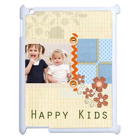 Flower Of Kids By Joely   Apple Ipad 2 Case (white)   2g884hje3sxp   Www Artscow Com Front