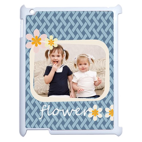 Flower Of Kids By Joely   Apple Ipad 2 Case (white)   Pww5nrfkg05c   Www Artscow Com Front