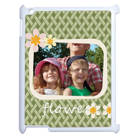 Flower Of Kids By Joely   Apple Ipad 2 Case (white)   Eq8xc7go8v5n   Www Artscow Com Front