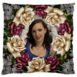 Roses and lace Large Cushion Case (2 sided) - Large Cushion Case (Two Sides)