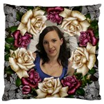 Roses and Lace Large Cushion Case - Large Cushion Case (One Side)