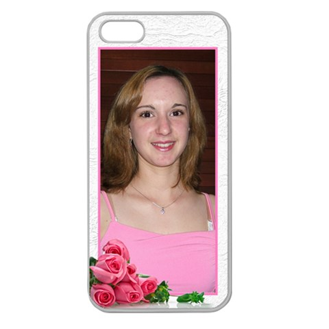 Roses Apple Seamless Iphone 5 Case (clear) By Deborah   Apple Seamless Iphone 5 Case (clear)   Cv2z7dibaut8   Www Artscow Com Front