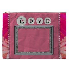Pink Love Xxl Cosmetic Bag By Lil    Cosmetic Bag (xxl)   N2ekrjff7frj   Www Artscow Com Front