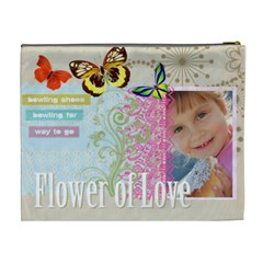 Flower Of Love By Jo Jo   Cosmetic Bag (xl)   H6orrfmbiw6w   Www Artscow Com Back